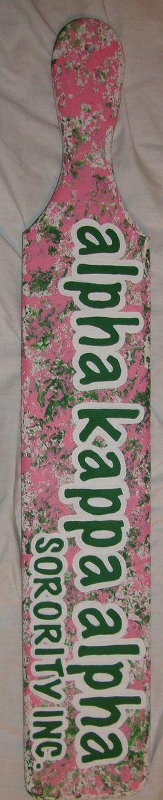 Alpha Kappa Alpha graffiti paddle