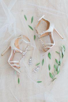 Photography : Anna Roussos   Brides Shoes : Badgley Mischka Read More on SMP: http://www.stylemepretty.com/little-black-book-blog/2015/12/30/sun-soaked-santorini-wedding/
