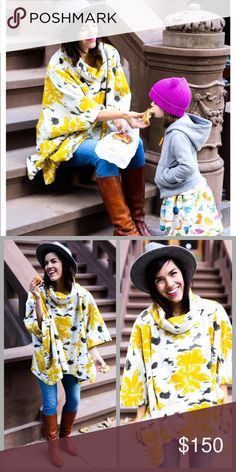 """❤️Anthropologie Cowlneck Poncho❤️ New with tags. I will only consider reasonable offers through the offer button, NO TRADES! We love a piece that feels at home in any era. """"There's such an ageless appeal to this pullover,"""" says Christina, our director of customer styling. """"With the upbeat print, it's a playful addition that you'll reach for year after year."""" To balance the fuller silhouette, she recommends pairing with a slim pant.  Textured rayon Pullover styling Dry clean Regular: 27.5""""L…"""