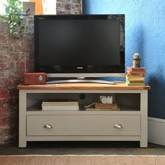 """Lundy Stone Grey Corner TV Unit - Up to 46"""" (J492) with Free Delivery 