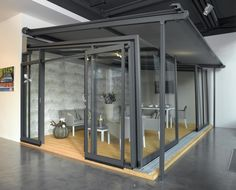 Come to see our showroom of enclosures by Alukov a. in Prague Prague, Showroom, This Is Us, Around The Worlds, Furniture, Home Decor, Corse, Decoration Home, Room Decor