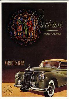 CP 1993 Ancienne Reproduction Affiche Publicité Mercedes Benz