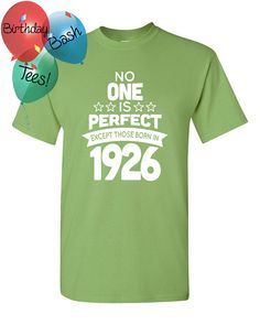 90 Year Old Birthday Shirt No One is Perfect by BirthdayBashTees