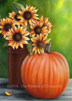 """Stillness of Fall""....Seasonal painting by Arkansas artist, Sheri Hart"