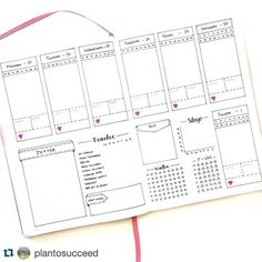Ok there's no way that @plantosucceed didn't create this weeklyspread in her bullet journal without the help of some cyborg or robot. It's just perfection isn't it? . ・・・