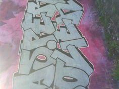 graffiti op een skate baan (fantasie, bovenkast, breed)