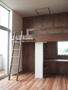 Condo Design, House Design, Small Apartments, Small Spaces, House Bunk Bed, Bed For Girls Room, Loft Bed Plans, Creative Kids Rooms, Small Condo