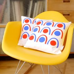 New Scandinavian Screen Printed Abstract Cushion by Janefoster, $25.00