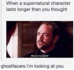 I lost it at ghostfacers... only characters ever to come on the show and NOT die