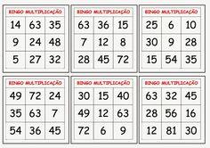 VAMOS APRENDER A TABUADA BRINCANDO!!!!!     1º  - Recorte todas as fichas e cartelas do bingo e cole-as em papel cartão ou cartolina.   2º ...