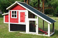 Red Habitat Chicken Coop Barn House