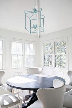 breakfast room. love the light fixture!