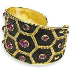 Ruby Nights Black Cuff Bracelet