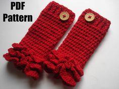 Crochet pattern crochet leg warmer pattern PDF- Ruffles leg warmer - newborn to…