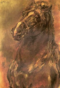 Learn more about Horse Study Jan Matejko - oil artwork, painted by one of the most celebrated masters in the history of art. European Wedding Dresses, Horse Sketch, Horses And Dogs, National Museum, Art Forms, Maid, Oil On Canvas, History, Artwork