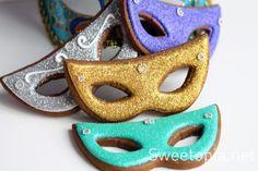 Galletas de máscara de colores