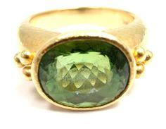 RARE! AUTHENTIC ELIZABETH LOCKE 18K YELLOW GOLD YELLOW PERIDOT RING picclick.com