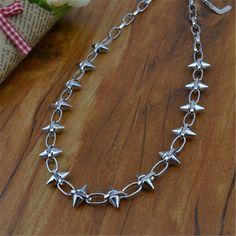 2013 USA Hot New Fashion Jewelry Punk Gothic Style Needle Spiked Necklace 18'' | eBay