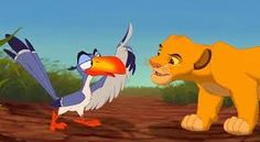 Resultat d'imatges de zazu the lion king