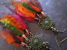 Beautiful Change Feather Earrings FREE SHIPPING by infinefeathers, $15.99