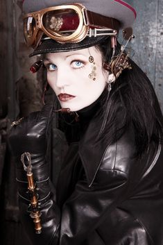 Steampunk-Portrait de Sonja Bender black-marilyn