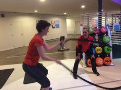 Trainen onder begeleiding van personal trainer Corinne bij sportschool Tesqua in Ede