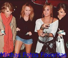demi lovato and taylor swift  | ... Fotos Favoritas: Taylor Swift, Miley Cyrus, Demi Lovato e Selena Gomez