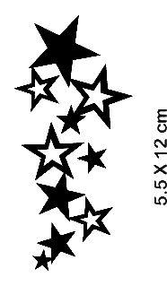Sternen Sensation Schablone für ein Tämporäres Tattoo zu malen.  #tattoo funtattoo #sommer