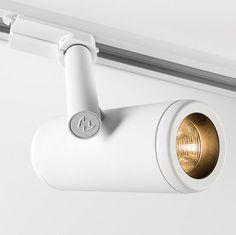 LED track light / round / plastic / adjustable MÉDARD Modular Lighting Instruments