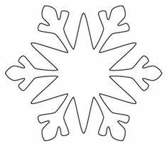 Paper Snowflake Pattern Template: How to make a cut paper Snowflake Outline, Snowflake Stencil, Snowflake Cutouts, Snowflake Template, Simple Snowflake, Snowflake Pattern, Snowflakes, Snowflake Snowflake, Christmas Stencils