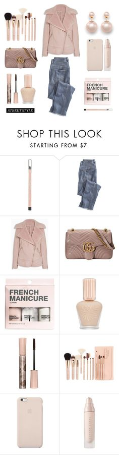 """""""Untitled #667"""" by tenindvr ❤ liked on Polyvore featuring Maybelline, Wrap, Gucci, H&M, Paul & Joe and Black Apple"""