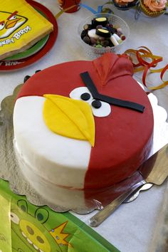 We planned angry birds partys for my six year old son. Angry Birds Cake, Bird Cakes, Party, Desserts, Food, Design, Tailgate Desserts, Deserts, Essen