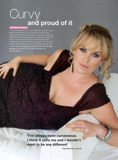 Irish plus size model Charlotte Coyle...she is so beautiful! <3 her!