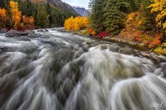 R U S H - Just one of the beautiful turns on the Wenatchee River and is winds through Tumwater Canyon.