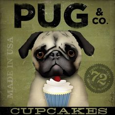 Hey, I found this really awesome Etsy listing at https://www.etsy.com/listing/65627098/pug-cupcake-company-original