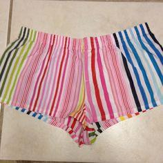 VS Pink sleep shorts colorful stripes. VS Pink sleep shorts. Victoria's Secret. Great condition. Will bundle!! PINK Victoria's Secret Intimates & Sleepwear Pajamas