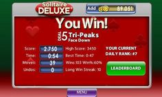 #Solitaire Deluxe. You win!
