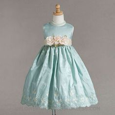 This Aqua dress takes my breath away- for Easter maybe? Style 886- Embroidered Taffeta Dress $39.99