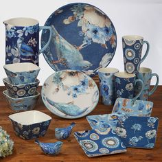 Ice Cream Bowl, Latte Mugs, Salt And Pepper Set, Canister Sets, Blue Bird, Dinnerware, Tea Pots, Lisa, Things To Come