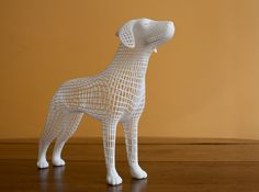 Wireframe dog by cinemo'