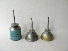 Vintage Oil Cans by PassedBy on Etsy, $26.00