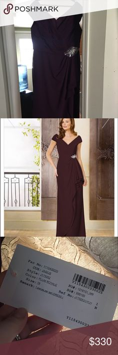 Formal Dress/Gown Plum Royale size 18 gown by Jade by Jasmine. Purchased the dress at a local wedding store for $360. Dress has NEVER been worn or altered, perfect for the mother of the bride dress. Have receipt for proof of purchase! Jade by Jasmine Bridal Dresses