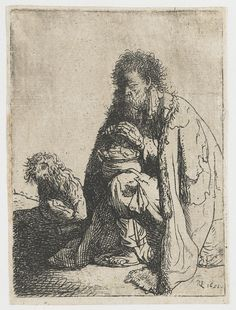 Seated beggar and his dog - Rembrandt