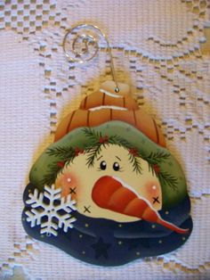 Snowflakes Friends Snowman with tan by Bronsonscraftsnsuch, $5.00