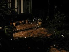 DIY Kits for fibre optic lighting on a path or a deck. Awesome!