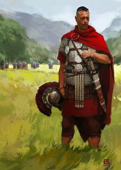 Rome Never Fell — bantarleton: Centurion by Miguel Iglesias. Ancient Rome, Ancient History, Character Inspiration, Character Art, Imperial Legion, Roman Armor, Roman Centurion, Roman Legion, Empire Romain