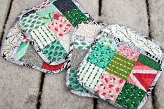 Sew Sweetness: Kitchen Stitches - Potholders made from V & Co Color Me Happy in stores this spring.