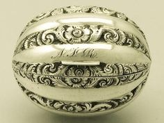 Antique Victorian Sterling Silver Nutmeg Grater by Taylor-Perry (John Taylor, John Perry)