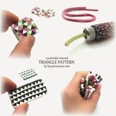 Tutoriak, making & using the Triangle pattern for LC Extruder | LUCY Struncova