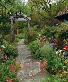 Design an Engaging Entryway. Read the full article at http://www.finegardening.com/design/articles/design-front-yard-garden-entryway.aspx
